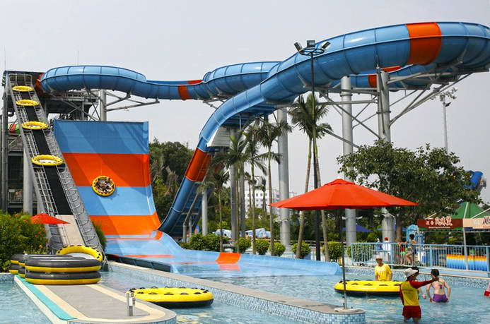 大型冲天回旋 Boomerang water slide
